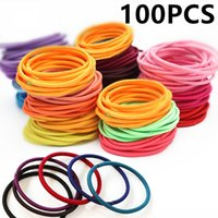 100pcs pack Girls' Hairband Hair Rope Accessories Elast...