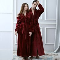 Lovers Winter Extra Long Plus Size Flannel Coral Fleece Warm...