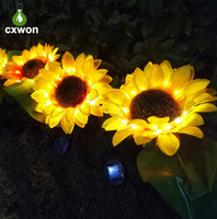 Solar Powered Sunflower Light Multi Styles Outdoor Solar Flo...
