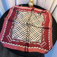Estate capo sciarpa di seta Donne Scopare Stampa Bandana Vintage Satin Piazza musulmane Hijab Sciarpe Boemia Scialli