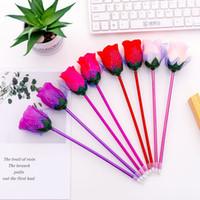 لوازم الاصطناعي زهور قلم حبر جاف KAWAII سليم الأسطوانة أقلام للبنات الكتابة الجدة هدية القرطاسية المدرسية J200219