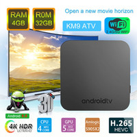 KM9 Android TV BOX Amlogic S905X2 Android 9. 0 LPDDR4 4GB RAM...