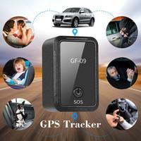 El más reciente de dispositivos de coches Mini GF-09 GPS Car Tracker GPS Localizador Rastreador contra la pérdida de seguimiento de control de grabación de voz puede grabar para los niños de coches GF07 GPS