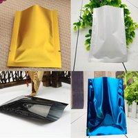 Kostenloser Versand farbige Folie Heißsiegel plain Beutel, 10X15CM-200pcs / pack x multi Farbe aluminisierte mylar flache Tasche, Maisstärke Verpackungsbeutel