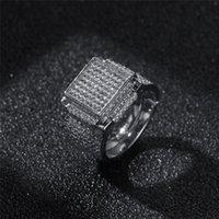 CZ 18K Giallo bianco Anelli in oro giallo Qualità del diamante per accessori Placcato Top Placcato Fashaion Hip Hop Hippe-Hipped Gems Gems Anello anello CPWGP