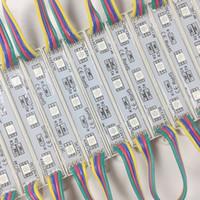 1000pcs / lot RGB DC12V IP65 20PCS pro String LED-Module 5050 3LED Modul für Werbung Außenbeleuchtung