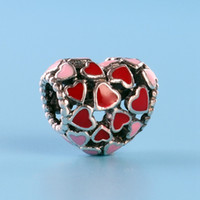 رومانسية الحب سحر الخرز ل باندورا 925 فضة مجوهرات مع مربع الأصلي مزاجه diy سوار مطرز هدية عيد