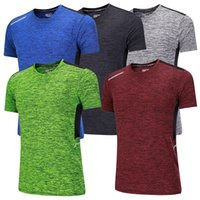 Mens Workout Shirt Fitness Gym T-Shirt Sport Top Joggen Laufhemden Männer Training Kompression T-Shirt Dry Fit Rashguard MMa