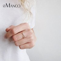 e- Manco 925 Sterling Silver Women' s Rings Trendy Minima...