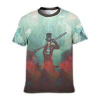 Мужские футболки с 3D принтом One Piece Luffy Tee Shirts Смешная черная футболка Аниме Вентиляторы Лето с коротким рукавом Пара Топы Детская одежда S-5XL