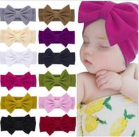 Bebê Crianças Menina Criança Criança Flor Floral Arco Floral Hairband Turbante Nó Headband Headwear Faixa de Cabelo Acessórios