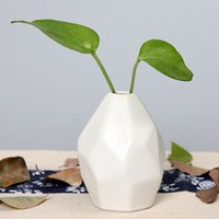 Vaso in ceramica a secco Fiore creativo decorazione semplice casa Ornamento europea geometrica a forma di bottiglia inciso alta qualità EEA1409Q-4