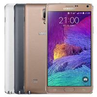 الأصلي تم تجديده Samsung غالاكسي ملاحظة 4 N910F 5.7 بوصة رباعية النواة 3 جيجابايت رام 32 جيجابايت rom 16mp 4 جرام مقفلة الهاتف dhl 5 قطع