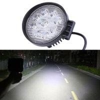 Overstralingsstraal Geel 27W LED-werkverlichting 60 graden Hoge Power Offroad Light Round Off Road Flood voor Varen Hunting