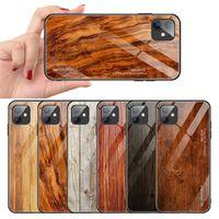 خشبي الزجاج المقسى القضية للحصول على 12 12 برو ماكس X حالة تغطية XR XS ماكس الخشب الحبوب صدمات الهاتف للحصول على اي فون X XR