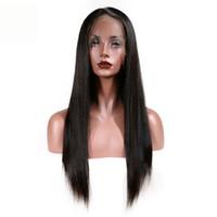 Recto 360 grados encaje pelucas frontales brasileño indio malasio 100% cabello humano color natural 8-24 pulgadas