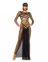 Ancient Egypt Egyptian Cleopatra Queen Costume Halloween Cos...
