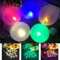 الصمام بالون توهج ضوء 9 لون صغير الكرة ضوء بار فانوس عيد الميلاد حفل زفاف الديكور عيد ميلاد الديكور XD23038