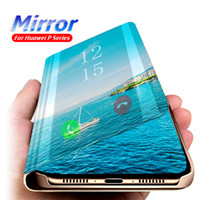 Smart Mirror Leather Case For Huawei P40 Pro Lite E P30 P20 Nova 5T Mate 30Pro 30Lite 20 20Pro Lite P Smart Y6 Prime Y7 Y9 2019 Clear Case