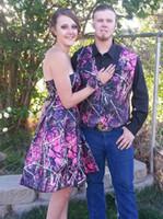 Muddy Fille Camo Groom Gilets Personnalisées camouflage Gilet Groom Porter robe de soirée de bal Camo