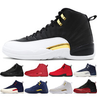2019 Sapatos Novos 12s Winterized WNTR Gym Red Michigan Mens Basketball O Mestre Flu Jogo Taxi classe de sneakers 2003 esportivos 12 homens # 3