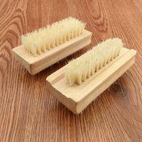 Натуральная кабана щетина кисти деревянные ногтя кисточка чистая кисточка для тела массаж скруббер макияж инструменты RRA1859