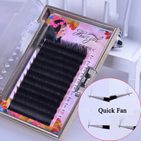 YioWio 12 rangs Cils Cheveux Auto Fan épais PBT fibre Eye Lashes Extension Cilia Bundles Camélia extension de cils Faux Kit Set
