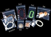 Tailles multi-tailles 100 pcs Clear Pvc Anti-oxydation Verrouillage de bijoux Pochettes Pouch-Bijoux Réselable Bijoux Poly Plastique Emballage Sacs pour Pearls Jade