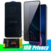 10D Anti Spy Peeping couverture complète confidentialité Verre Trempé pour iPhone 11 Pro Max XS Max XR X 7 6S 8 Protection Plus de Privacy Screen Protector