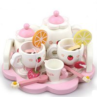 New Wooden Toy Baby Toy Strawberry Wooden Tea Toys Simulatio...
