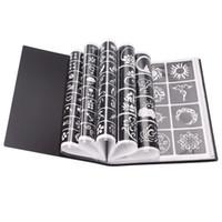 17 Sayfalık 264 Haritalar Profesyonel Su Geçirmez Kına Dövme Şablonları Geçici Glitter Airbrush Dövme El Parmak Çizim # 242095 T9190615