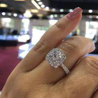 Bagues de fiançailles de mariage en zircon mousseux pour femmes de qualité supérieure S925 Party Bijoux Bijoux Bague Filles Taille 6 7 8 9 10 Bague
