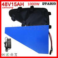 48 V Trójkąt bateria 15Ah Elektryczny rower 48V 15Ah Użyj litii Samsung z ładowarką 20a BMS i 54.6V 2A
