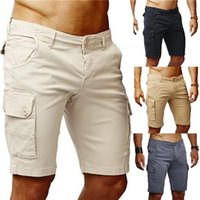 Overalls Summer Solid Color Slim Fit Casual Shorts Male Desi...
