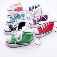 Mini scarpe di tela sneaker tennis portachiavi creativo portachiavi catena di simulazione di scarpe sportive divertente portachiavi ciondolo regalo