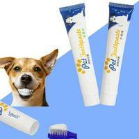Dentifrice pour animaux chien chiot chat le nettoyage des dents soins des dents de saveur de boeuf blanchissant nettoyage Pet Supplies 100pcs OOA6314-1