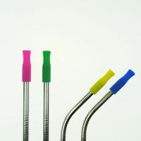 Dicas de Silicone Tampa para 6mm De Aço Inoxidável Palhas Protetor de Dentes Protetor de Bar Beber Acessórios de Festa de Natal DLH037