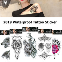 Waterproof Temporary Tattoo Stickers Totem Flower Fake Tatto...