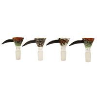 Coloful стеклянных чаш курить миску с 14.4mm и 18.8mm мужской совместной пьянящей стеклянной чашей для воды из стекла затяжек