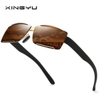 Man Square Half Frame Brand Colorful Polarized light fishing...