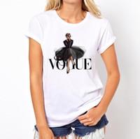 Lettera Donne donne maglietta nuovo modo di estate di stampa Bianco Top 6 di stile maglietta a maniche corte O collo Ragazza T Shirt Asiatica Misura S-4XL