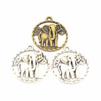 벌크 100pcs / lot 코끼리 Ganesha Buddha 매력 펜던트 팔찌 목걸이 쥬얼리 DIY 수제 공예품 만들기