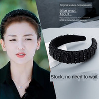 Sevgili Inn Liu Tao Saç Bandı ZA Sünger Geniş Kenar Bandı El Yapımı Kristal Şapkalar