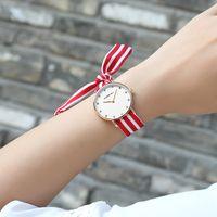 CRRJU Novas Senhoras Exclusivas Flor Pano de Pulso de Pulso de Moda Mulheres Vestido Assista Tecido De Alta Qualidade Relógio Doce Meninas Pulseira relógio
