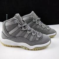 Детская спортивная обувь для детских мальчиков Баскетбольная обувь Детская спортивная обувь 11s легенда синие малыши белый размер 28-35