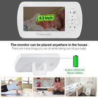 2MP 1080p Vidéo sans fil Nanny Moniteur bébé 4,3 pouces écran avec caméra Sécurité Babyfoon Température Surveille Vision nocturne