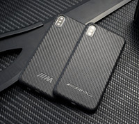 Funda Sport Car de fibra de carbono AMG BMW para iPhone XS Max XR XS X 8 8 Plus 7 6S 6 Plus