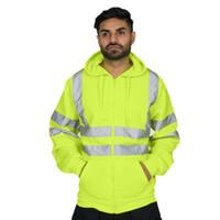 Ceket Erkek Yansıtıcı Ceket Portakal Spor Cardiagn Coats Kapşonlu Fermuar