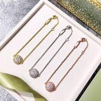 oro chapado en cobre de alta calidad completos brazaletes pulseras de piedra de la CZ de la mujer nueva llegada vendedora caliente de la joyería de moda de lujo