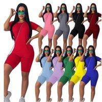 Estate due pezzi massello naturale colore a maniche corte tuta delle donne del cotone Outfit maglietta + bicchierini jogging Set Sweatsuit sportivo S-4XL LY611